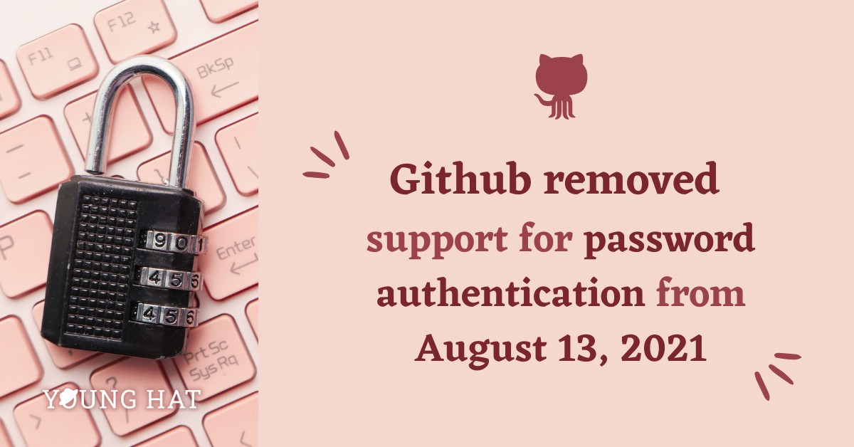 Github now requires personal token instead of password for git operations