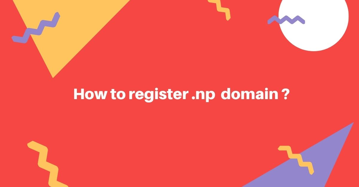 How to register .np domain ?